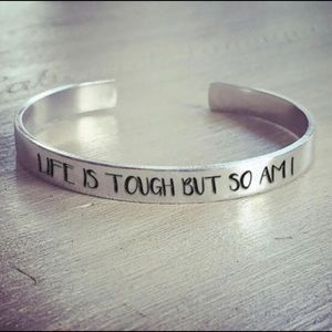 Jewelry - Beautiful Stainless Steel Motivational Bracelet